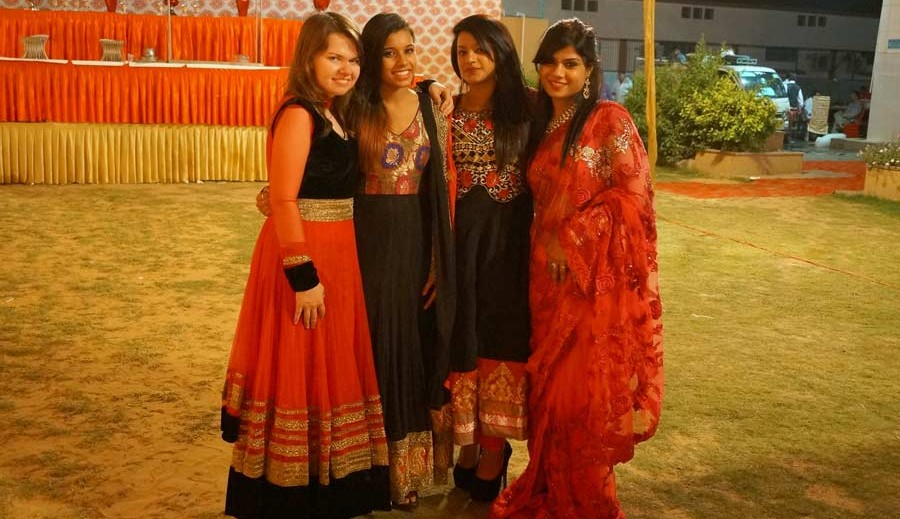 wedding dress anarkali with friends