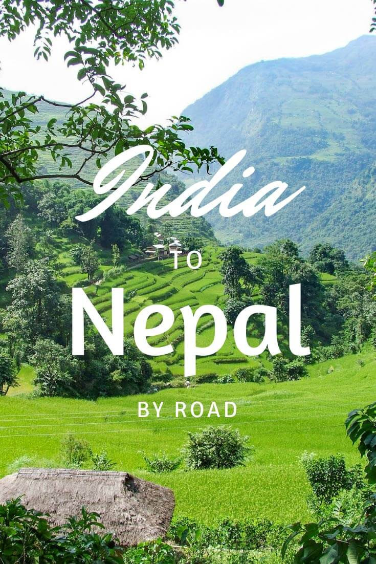 India to Nepal by Road pin