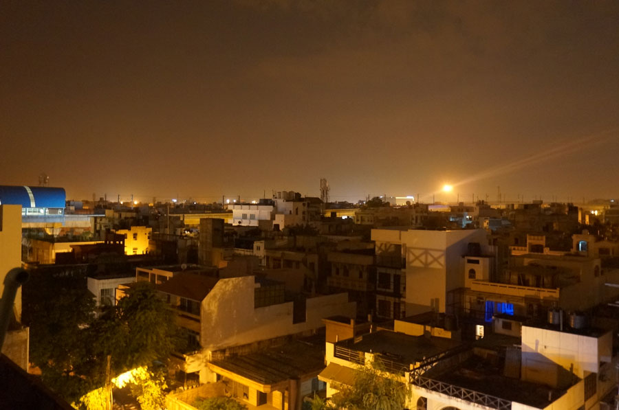 Delhi night view