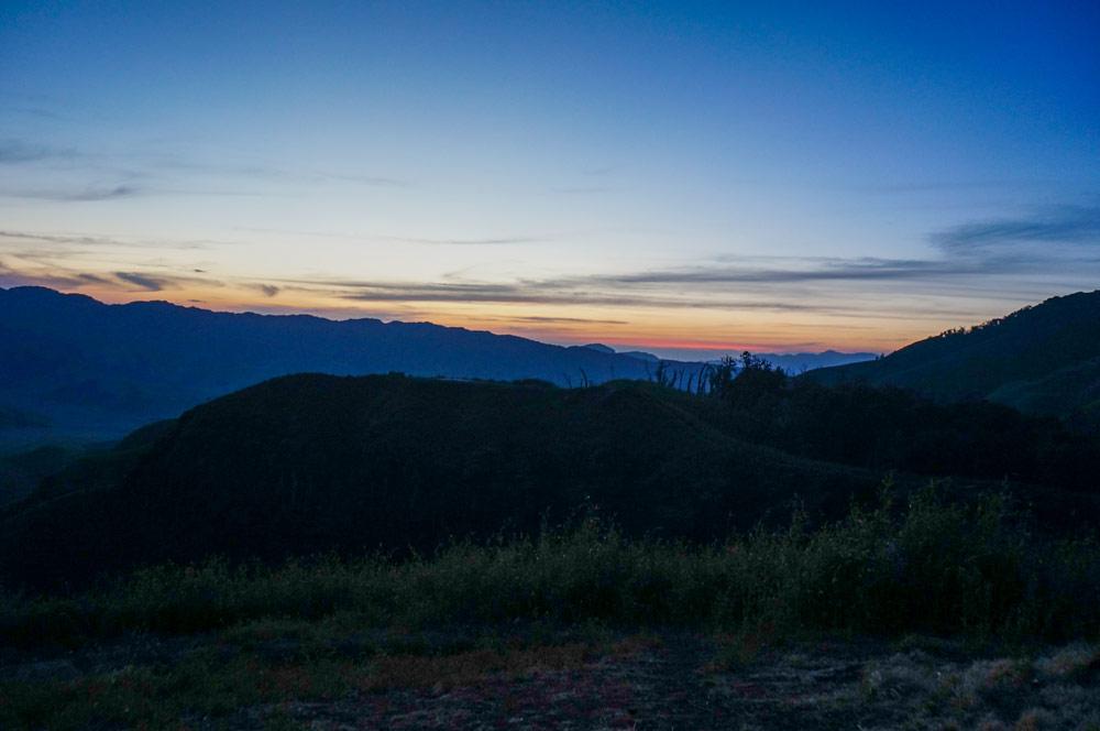 Dzukou Valley sunset