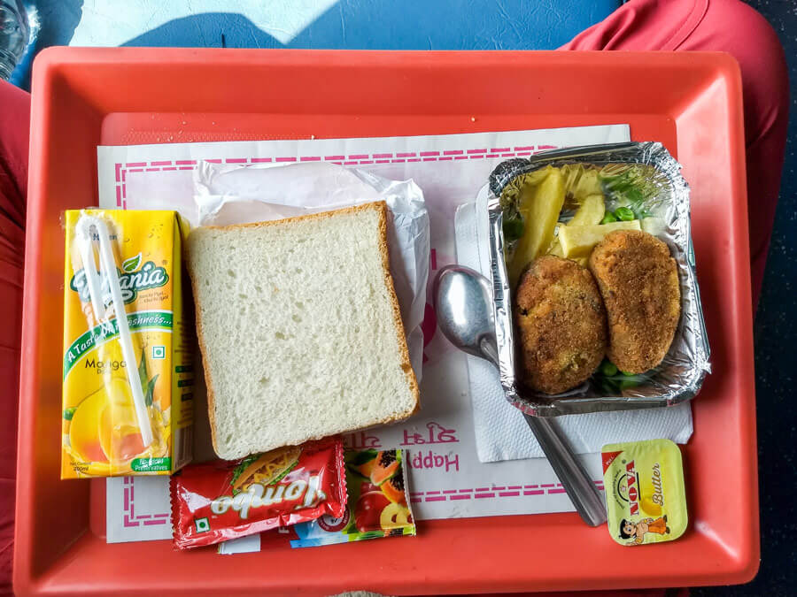 Food in Indian train