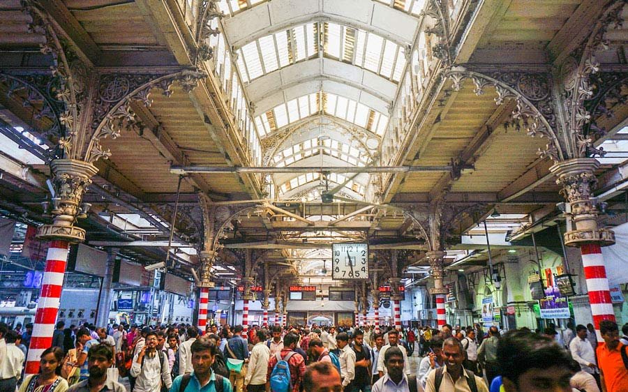 Mumbai CST station interiors
