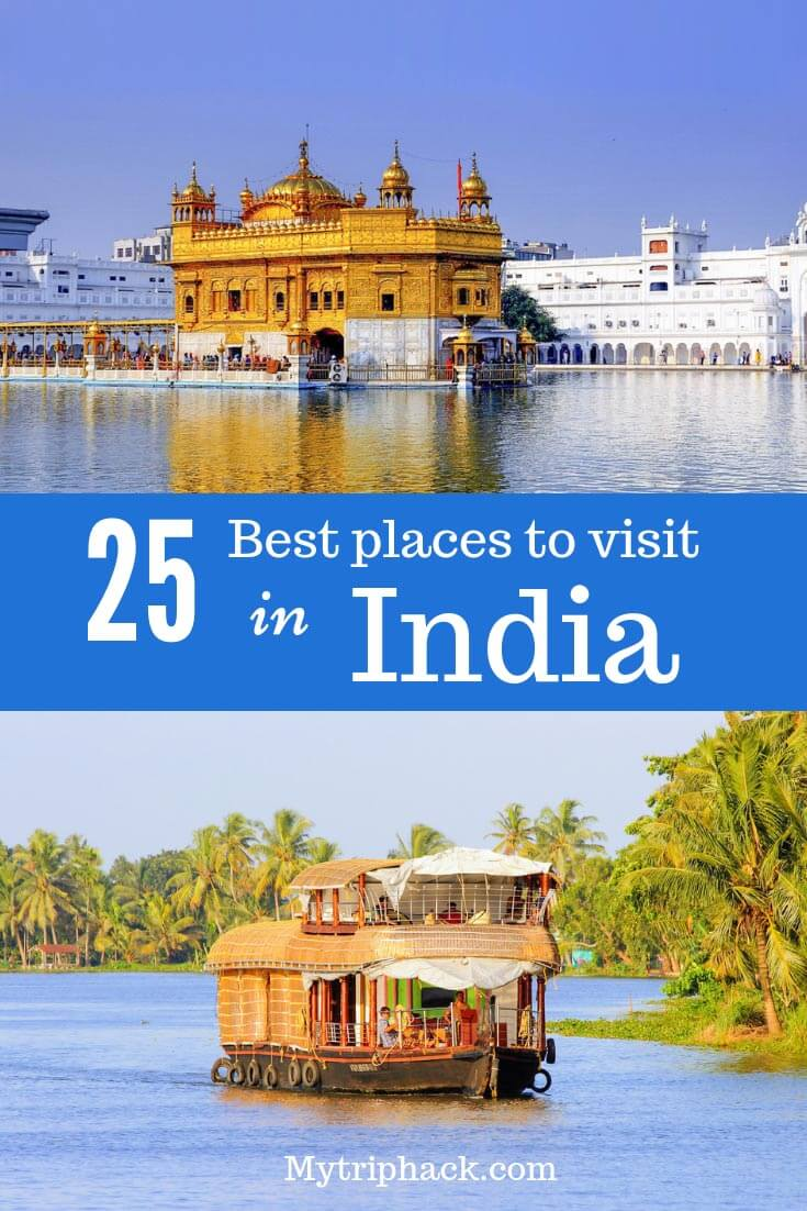 Popular India travel destinations: Golden Triangle India, Rajasthan, Kerala, Himalaya, Holy cities and other unique places in India. India bucket list for first-time visitors. #IncredibleIndia #India #travel