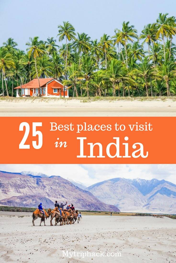 Best places to visit in India: list of popular India destinations by regions: places to visit in North India, South India, East & West. Best things to do in India depending on itinerary. India bucket list. #IncredibleIndia #India #travel