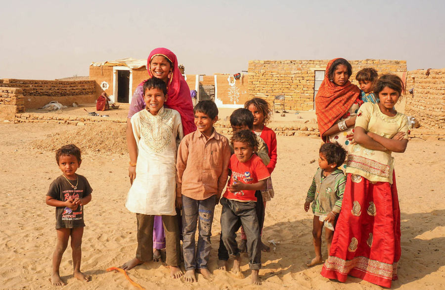 Thar desert people in Thar village