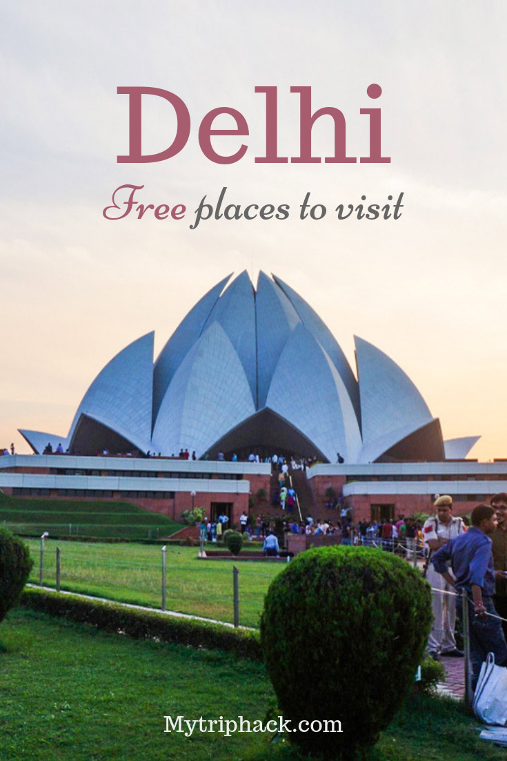 Free things to do in Delhi pin