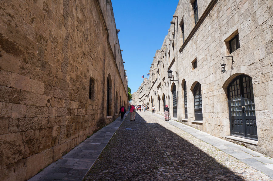The street of Knights Rhodes