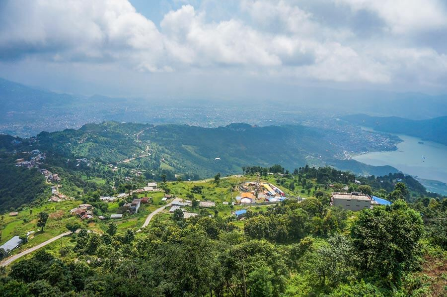Sarangkot view as seen from the viewpoint