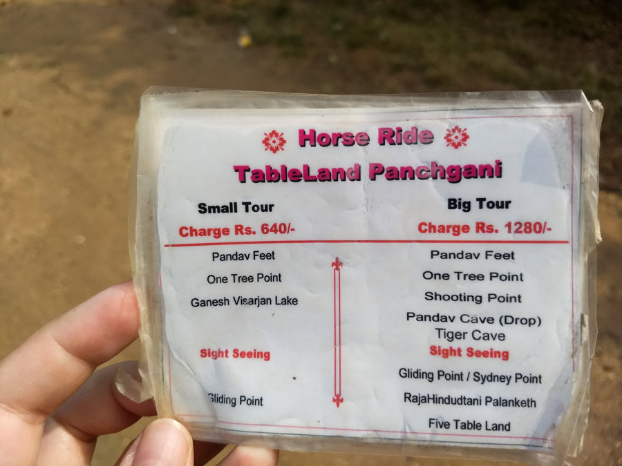 Horse riding Table Land