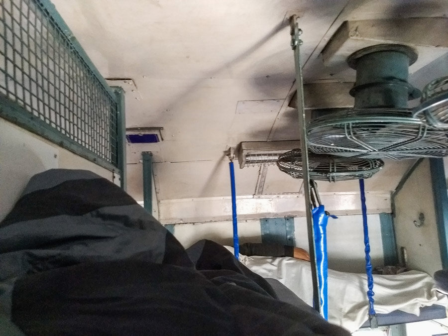 Upper berth sleeper