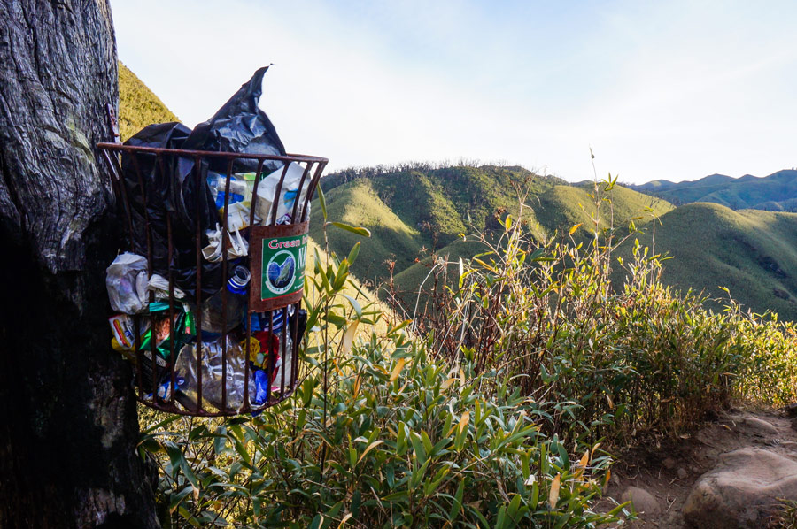 Dzukou Valley Garbage bins