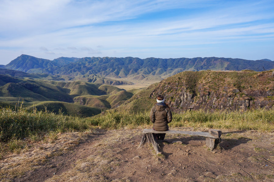 Dzukou Valley bench