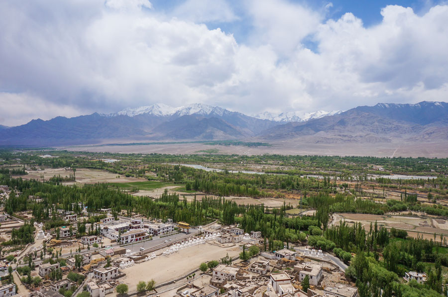 Thiksey Monastery view