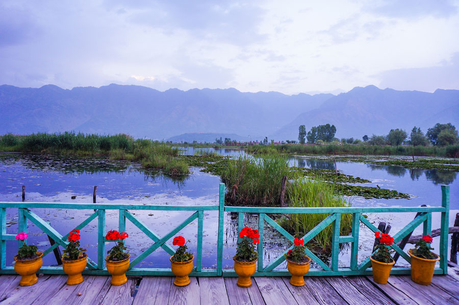 Houseboat balcony Srinagar