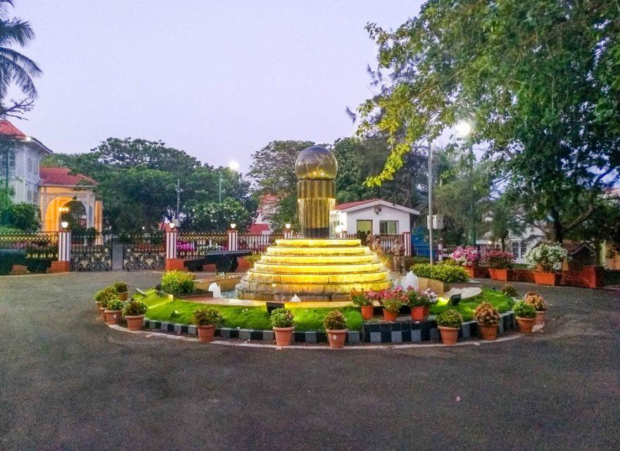 Raj Bhavan fountain