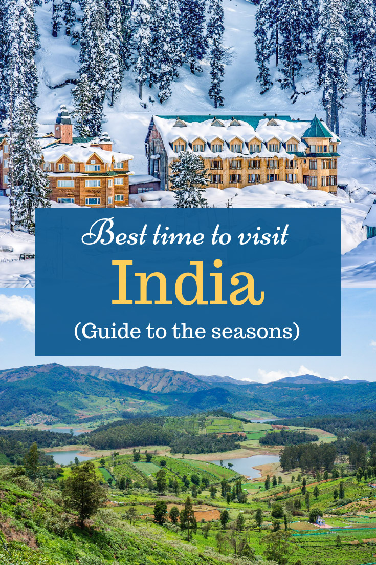 Best time to visit India - guide to Indian seasons: When to visit North India, when to visit South India, when to travel to mountains, deserts, beaches in India. How does a monsoon season looks like, summer, winter in India. #India #travel