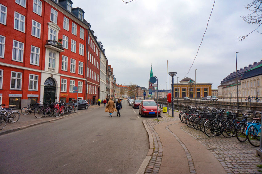 Copenhagen street with bicycles