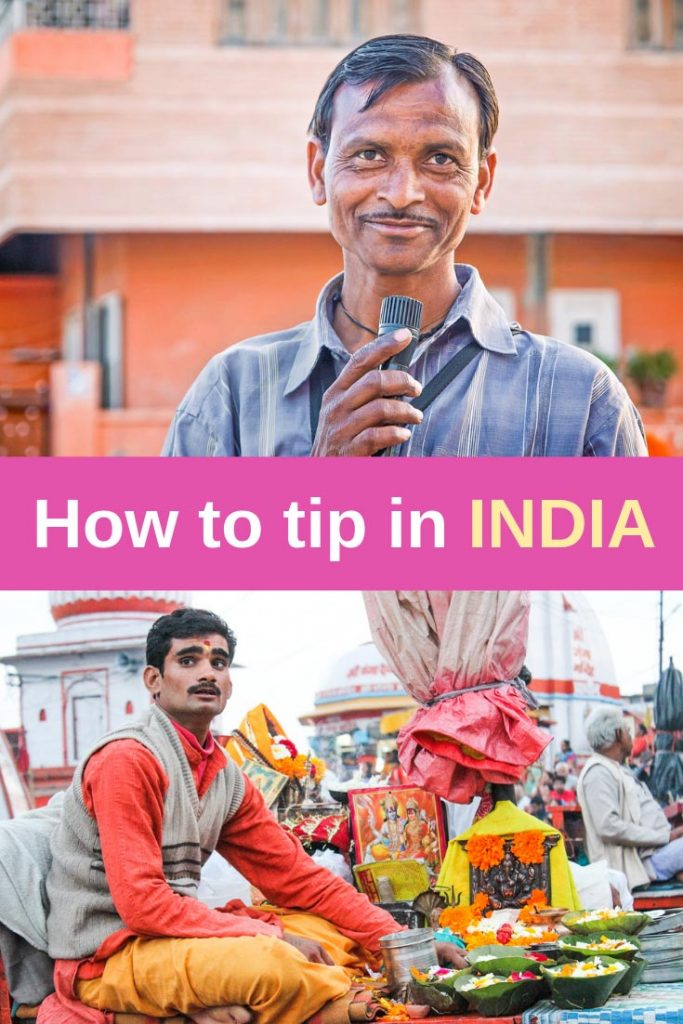Tipping in India pin